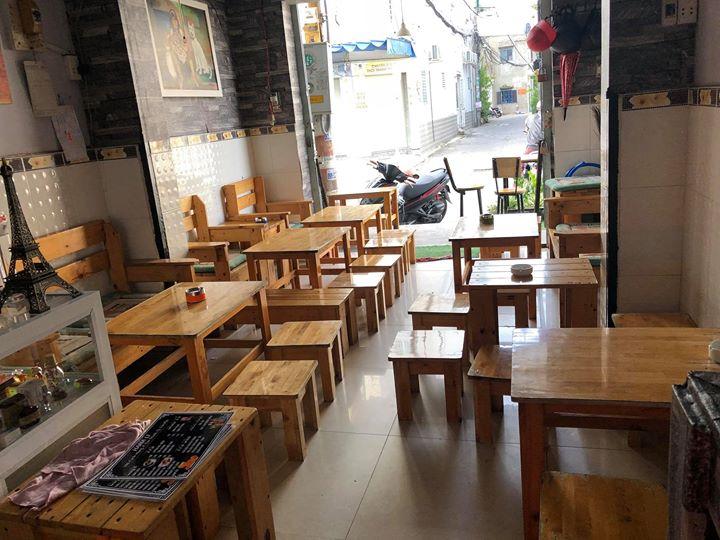 Bàn ghế gỗ cafe take away