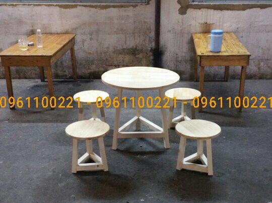 Bàn ghế cafe take away